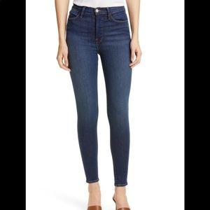 FRAME High Waist Skinny Jean: Size 26: Blue